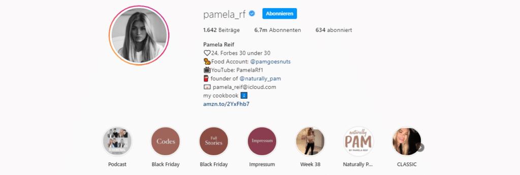 Pamela Reif Instagram