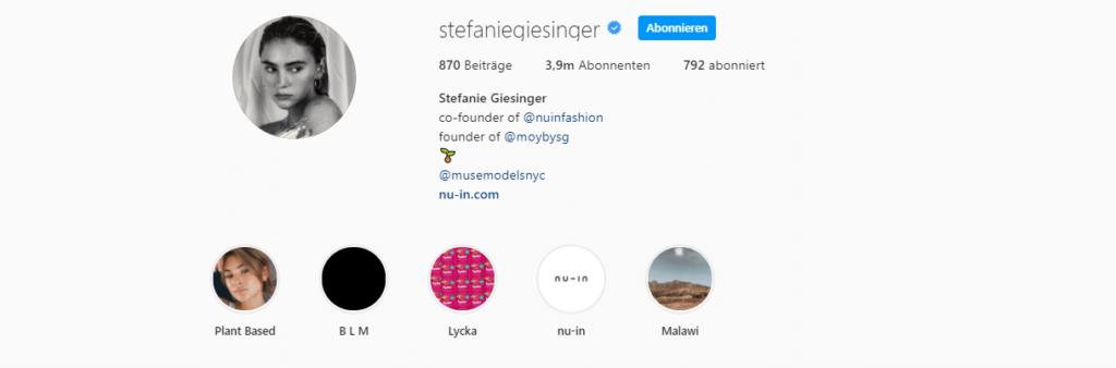 Stefanie Giesinger Instagram
