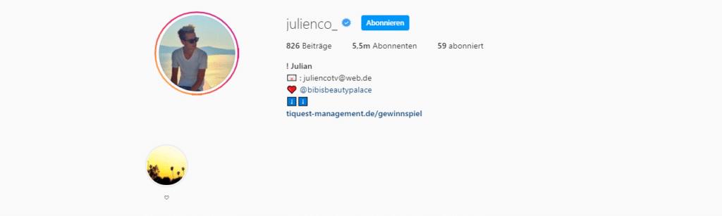 Julian Claßen Instagram