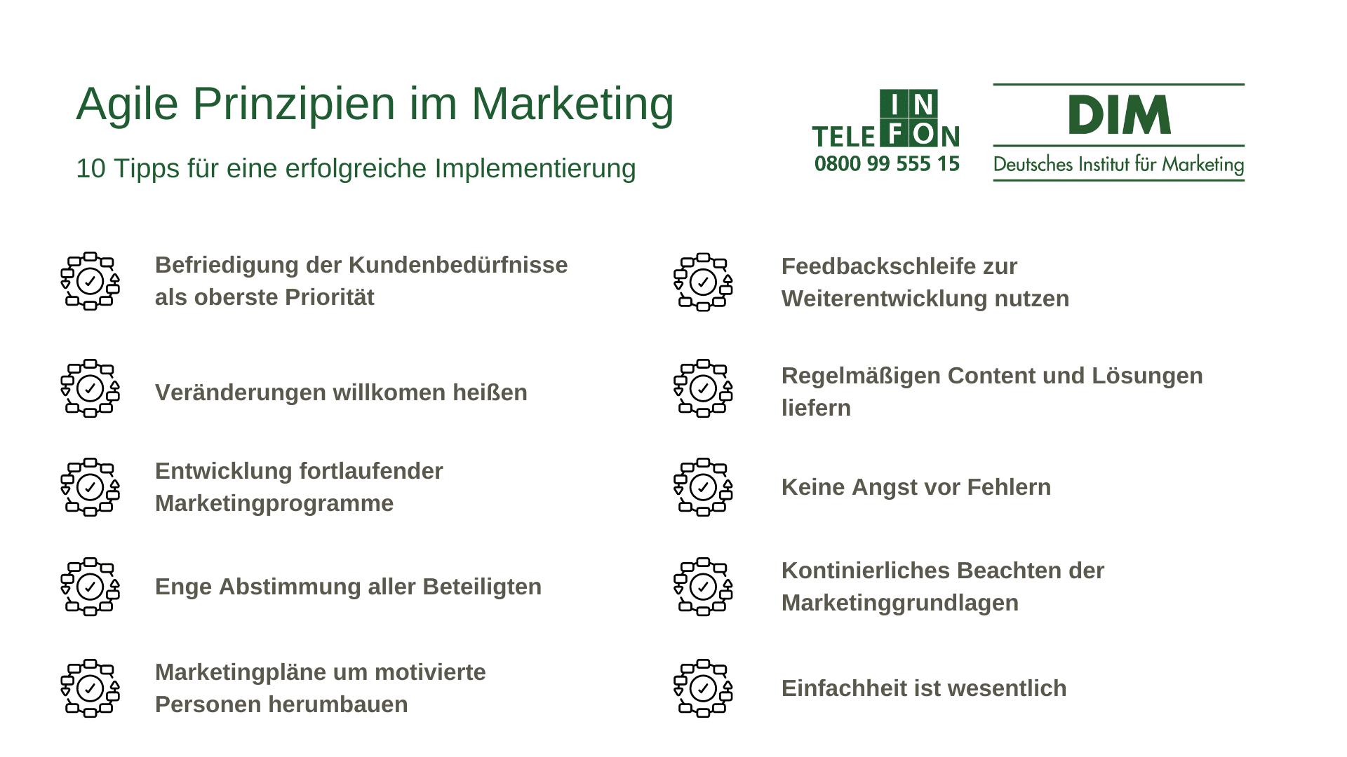 Agile Prinzipien im Marketing