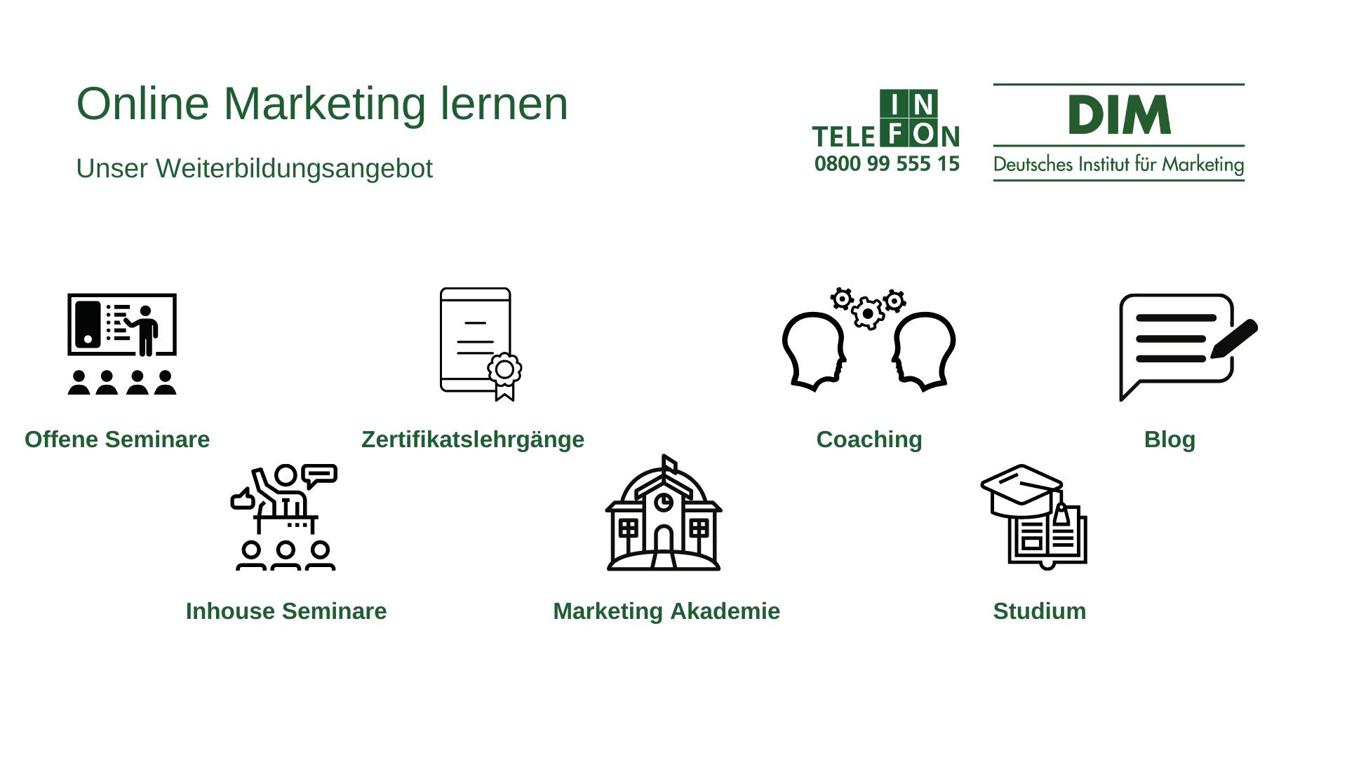 Online Marketing lernen