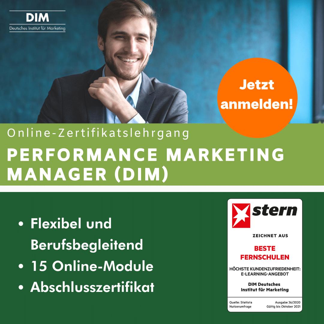 Performance Marketing Manager DIM