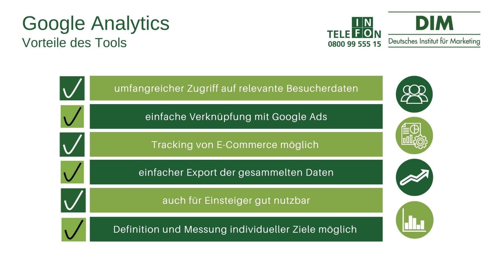 Google Analytics Vorteile