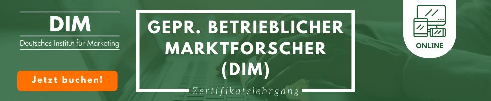 Gepr. betrieblicher Marktforscher (DIM)