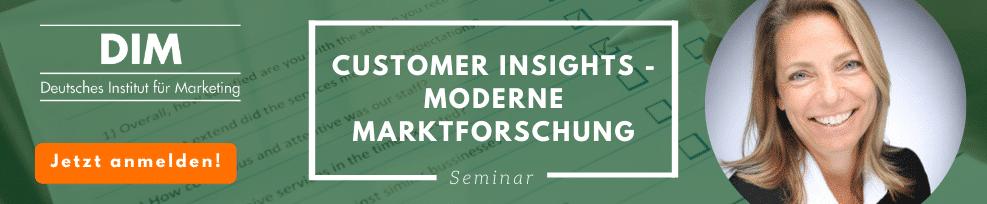 Customer Insights – Moderne Marktforschung