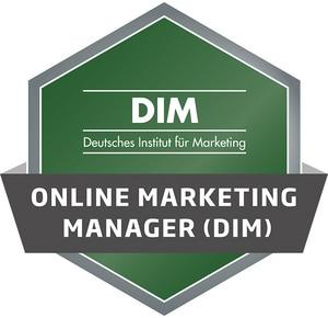 DIM Badge - Online Marketing Manager (DIM)
