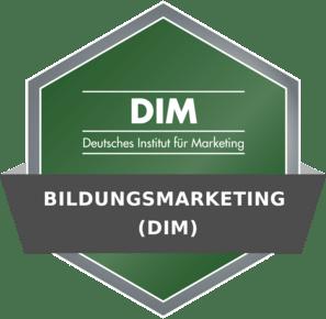 Dim Badge - Bildungsmarketing (DIM)