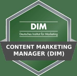DIM Badge - Content Marketing Manager (DIM)