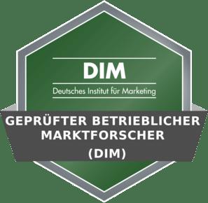 DIM Badge - Gepr. betrieblicher Marktforscher (DIM)