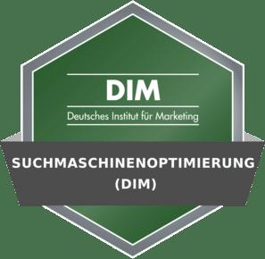 DIM Badge - Suchmaschinenoptimierung (DIM)