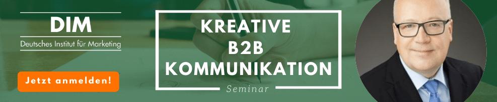 B2B Kommunikation kreativ gestalten