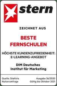 Siegel des STERNS für die Auszeichnung beste Fernschule.
