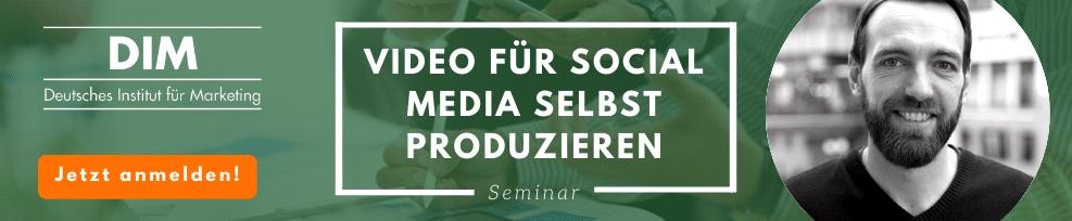 Video-Marketing – Videos für Social Media selbst produzieren