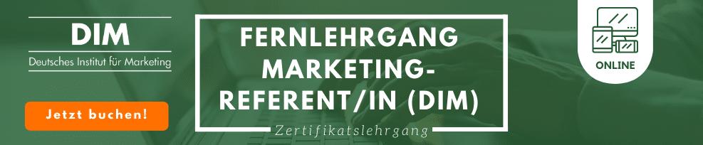 Fernlehrgang Marketingreferent/in (DIM)