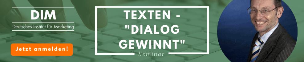 """Texten – """"Dialog gewinnt"""""""