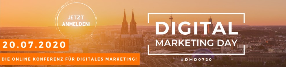 Digital Marketing Day 0720 - Jetzt anmelden!