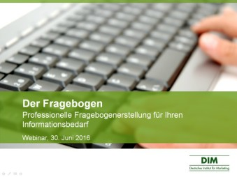 Professionelle Fragebogenerstellung - E-Learning Kit