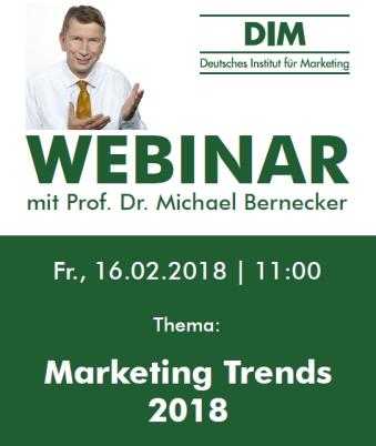 Marketing Trends 2018 - Webinar
